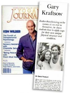 1987 Yoga Journal Magazine featuring Gary Kraftsow